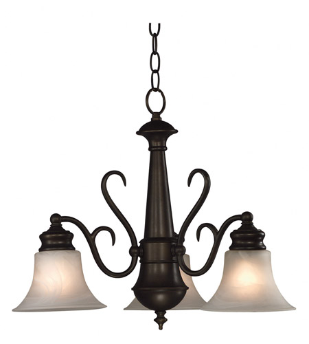 Kenroy Lighting Wynwood 3 Light Chandelier in Burnished Bronze   91399BBZ photo