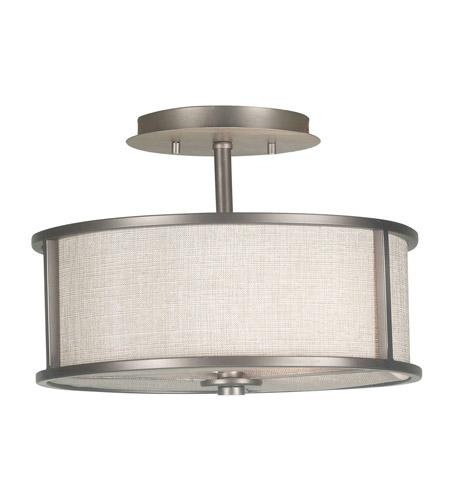 Kenroy lighting 91582bzg whistler 2 light 14 inch bronze gilt semi flush ceiling light