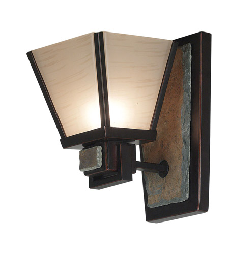 Kenroy Lighting Clean Slate 1 Light Sconce in Oil Rubbed Bronze  with Natural Slate  91601ORB photo