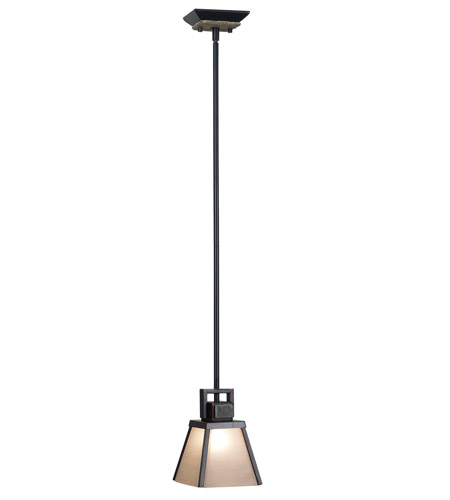 Kenroy Lighting Clean Slate 1 Light Mini Pendant in Oil Rubbed Bronze  with Natural Slate  91605ORB photo