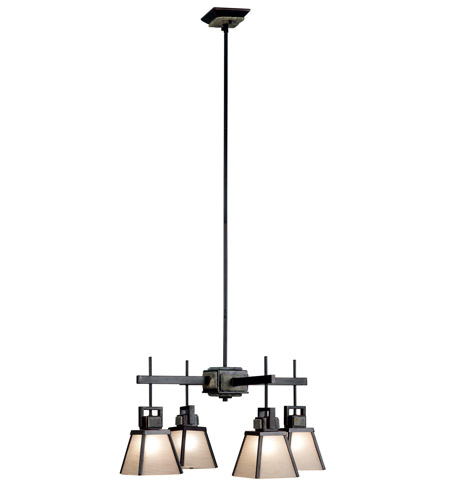Kenroy Lighting 91608ORB Clean Slate 4 Light 27 inch Oil Rubbed Bronze  with Natural Slate Chandelier Ceiling Light photo