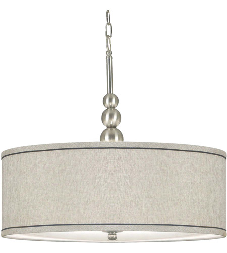 Kenroy Lighting Margot 3 Light Pendant in Brushed Steel   91640BS photo