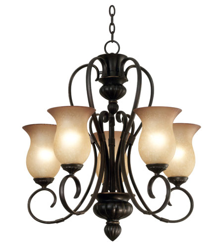 Kenroy Lighting Ponte Vedra 5 Light Chandelier in Oil Rubbed Bronze   91665ORB photo