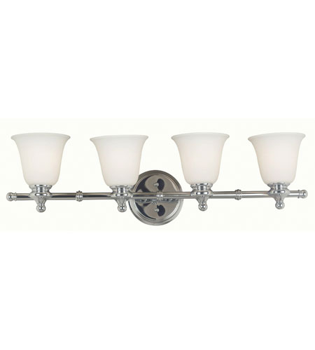 Kenroy Lighting Connery 4 Light Vanity in Chrome   91694CH photo