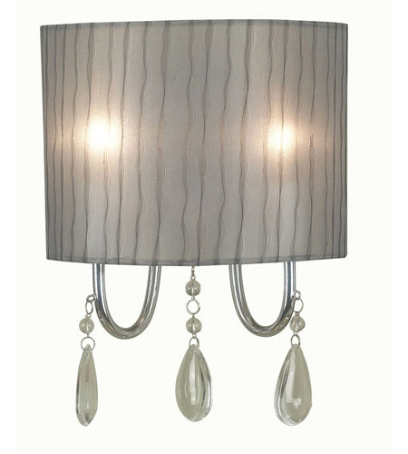 Kenroy Lighting Arpeggio 2 Light Sconce in Chrome   91730CH photo