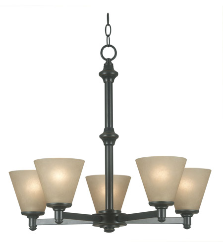 Kenroy Lighting 91755BP Tallow 5 Light 26 inch Bronze Patina Chandelier Ceiling Light photo