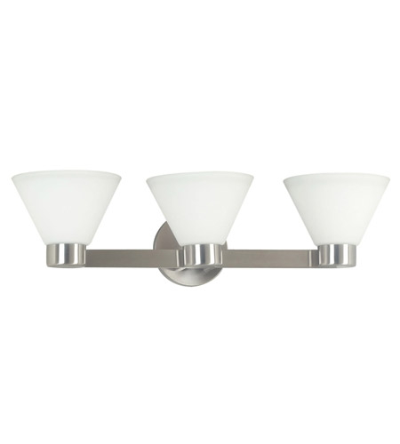 Kenroy Lighting 91793BS Maxwell 3 Light 25 inch Brushed Steel Vanity Wall Light photo