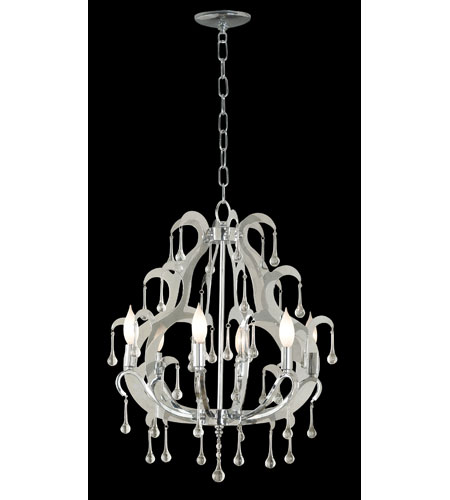 Kenroy Lighting Winter 6 Light Chandelier in Chrome  with Glass Drops  91826CH photo