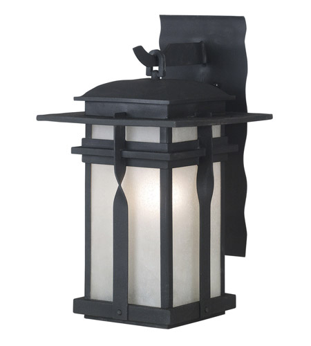 Kenroy Lighting 91901BL Carrington 1 Light 14 inch Black Wall Lantern photo
