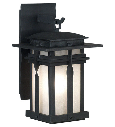 Kenroy Lighting Carrington 1 Light Outdoor Lantern in Black   91902BL photo