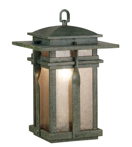 Kenroy Lighting Carrington 1 Light Outdoor Hanging Lantern in Rust   91904RST photo