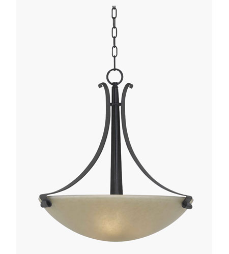 Kenroy Lighting Willoughby 3 Light Chandelier in Forged Graphite   91913FGRPH photo