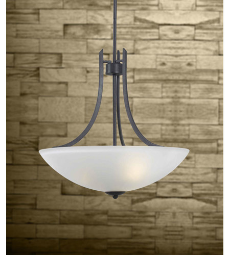Kenroy Lighting Mirage 3 Light Pendant in Forged Graphite   91923FGRPH photo
