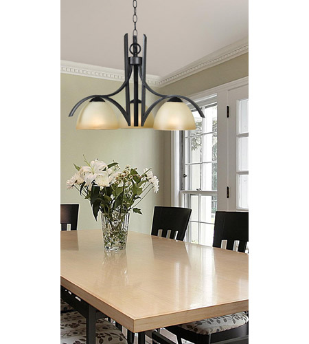 Kenroy Lighting Cypress 3 Light Chandelier in Oil Rubbed Bronze   91953ORB photo