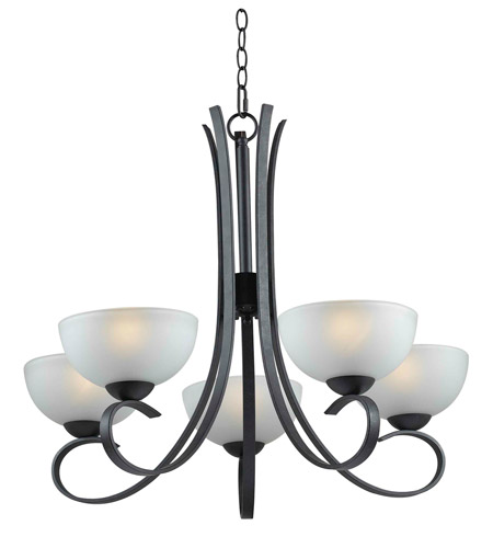 Kenroy Lighting Maple 5 Light Chandelier in Forged Graphite   91965FGRPH photo