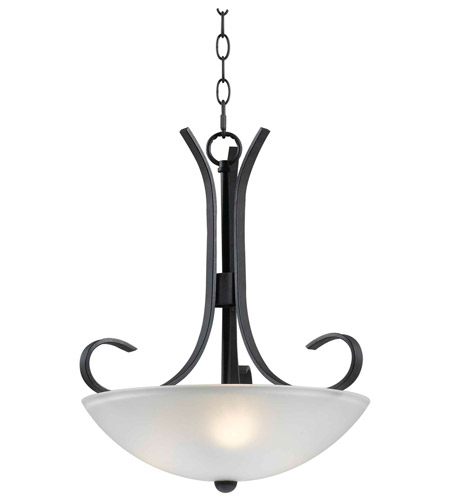 Kenroy Lighting 91967FGRPH Maple 3 Light 17 inch Forged Graphite Pendant Ceiling Light photo