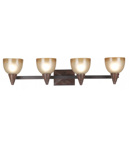Kenroy Lighting Kyoto 4 Light Vanity in Dark Oak   92113DO photo