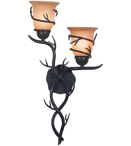 Kenroy Lighting 92136brz Twigs 2 Light 14 Inch Bronze Wall Sconce