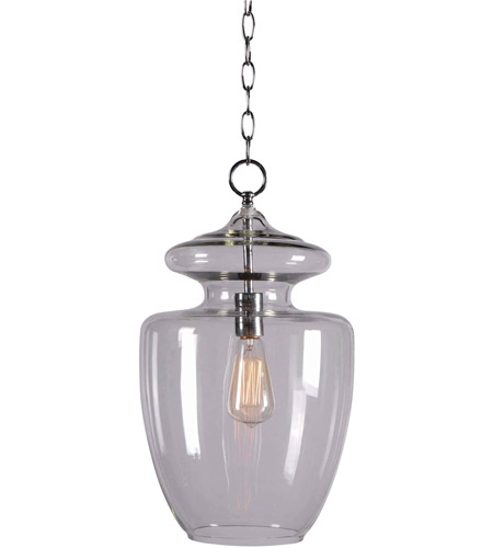 Kenroy Lighting Apothecary 1 Light Pendant in Chrome CLR