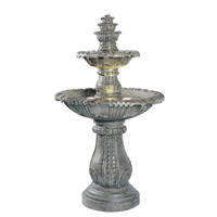 Kenroy Lighting Venetian 3 Light Outdoor Floor Fountain in Moss 02254 photo thumbnail