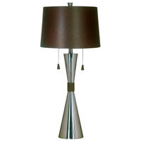 Kenroy Lighting 02371 Bella 32 inch 60 watt Brushed Steel Table Lamp Portable Light