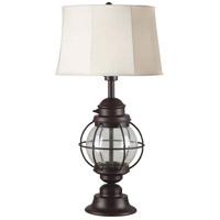 Kenroy Lighting 03070 Hatteras 10 inch 100 watt Gilded Copper Table Lamp Portable Light