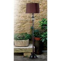Kenroy Lighting Hatteras 1 Light Floor Lamp in Gilded Copper with Seeded Glass   03071