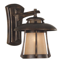 Laguna 1 Light 10 inch Golden Bronze Wall Lantern Wall Light