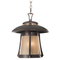 Kenroy Lighting Laguna 3 Light Outdoor Hanging Lantern in Golden Bronze   03197