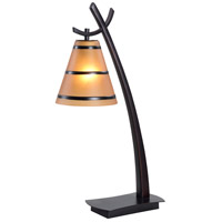 Kenroy Lighting 03332 Wright 12 inch 60 watt Oil Rubbed Bronze Table Lamp Portable Light