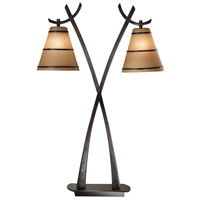 Wright 19 inch 60 watt Oil Rubbed Bronze Table Lamp Portable Light