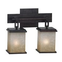 Plateau 2 Light 13 inch Oil Rubbed Bronze Vanity Wall Light