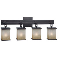 Kenroy Lighting Plateau 4 Light Vanity in Oil Rubbed Bronze   03375
