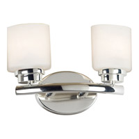 Kenroy Lighting Bow 2 Light Vanity in Polished Nickel   03391