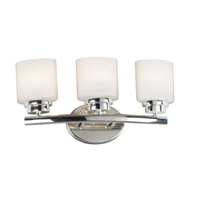 Bow 3 Light 19 inch Polished Nickel Vanity Wall Light