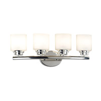 Bow 4 Light 24 inch Polished Nickel Vanity Wall Light