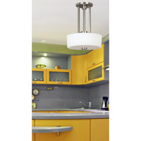 Kenroy Lighting Encounters 2 Light Pendant in Brushed Steel   10180BS