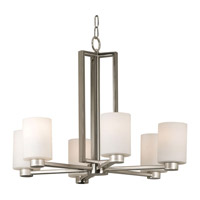 Encounters 6 Light 26 inch Brushed Steel Chandelier Ceiling Light