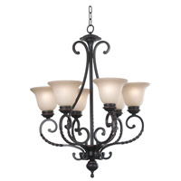Oliver 6 Light 27 inch Oil Rubbed Bronze Chandelier Ceiling Light