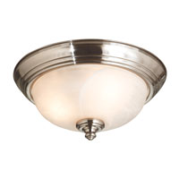 Kenroy Lighting Winterton 2 Light Flush Mount in Brushed Steel   10507BS