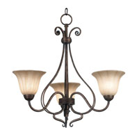 Kenroy Lighting Wallis 3 Light Chandelier in Burnished Bronze   10548BB