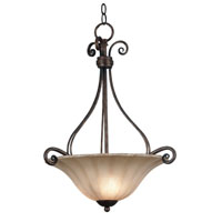 Kenroy Lighting Wallis 3 Light Pendant in Burnished Bronze   10553BB photo thumbnail