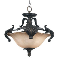 Kenroy Lighting Cromwell Gold Antique Finish Semi-Flush Mount Lighting 10572GA