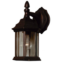 Custom Fit 1 Light 7 inch Black Wall Lantern Wall Light