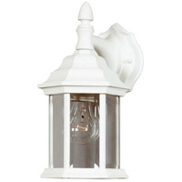 Custom Fit 1 Light 7 inch White Wall Lantern Wall Light