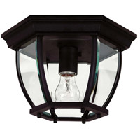 Dural 1 Light 11 inch Black Flush Mount Ceiling Light