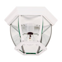 Kenroy Lighting Dural 1 Light Flush Mount in White   16277WH
