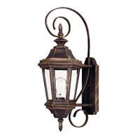 Estate 1 Light 8 inch Antique Patina Wall Lantern Wall Light