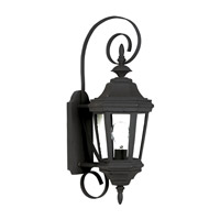 Kenroy Lighting Estate 1 Light Outdoor Wall Lantern in Black   16312BL photo thumbnail