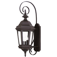 Kenroy Lighting 16313BL Estate 3 Light 28 inch Black Wall Lantern